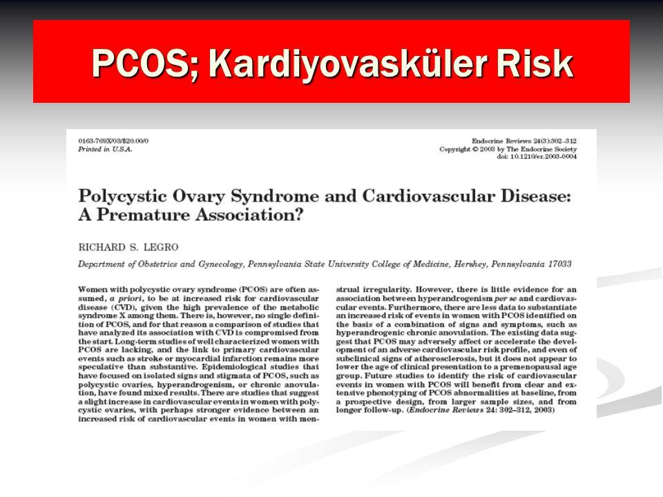 PCOS; Kardiyovasküler Risk