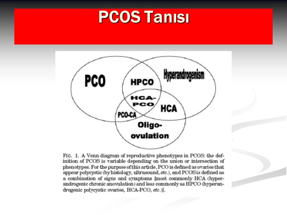 SONUÇLAR-I PCOS'lu hastalarda uzun dönemde tip II DM ve kardiyovasküler hastalık gelişme riski yüksektir PCOS'lu hastalarda uzun dönemde tip II DM ve kardiyovasküler hastalık gelişme riski yüksektir Bu hastaların gebeliklerinde artmış abortus ve gestasyonel DM görülme olasılığı dikkat çekicidir Bu hastaların gebeliklerinde artmış abortus ve gestasyonel DM görülme olasılığı dikkat çekicidir PCOS ile kanser (endometrium, meme,over) arasında zayıf bir ilişki vardır PCOS ile kanser (endometrium, meme,over) arasında zayıf bir ilişki vardır