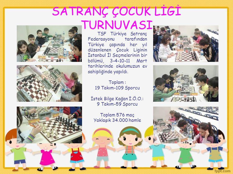 SATRANÇ ÇOCUK LİGİ TURNUVASI TSF Türkiye Satranç Federasyonu tarafından Türkiye çapında her yıl düzenlenen Çocuk Liginin İstanbul İl Seçmelerinin bir