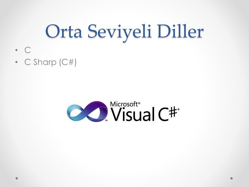 Orta Seviyeli Diller C C Sharp (C#)