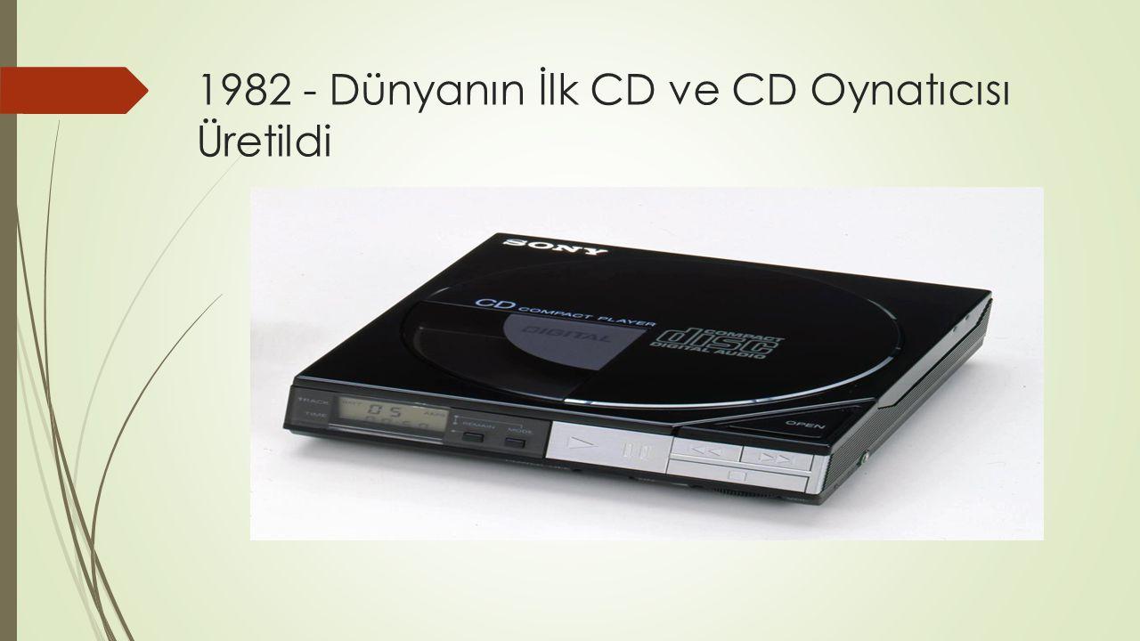 1982 - Dünyanın İlk CD ve CD Oynatıcısı Üretildi