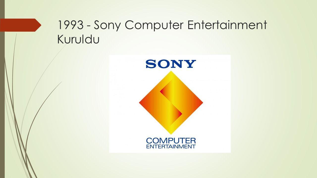 1993 - Sony Computer Entertainment Kuruldu