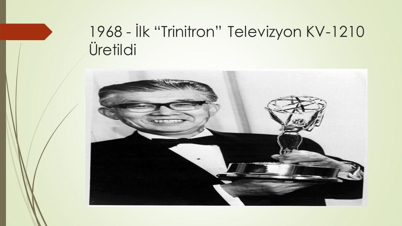 """1968 - İlk """"Trinitron"""" Televizyon KV-1210 Üretildi"""