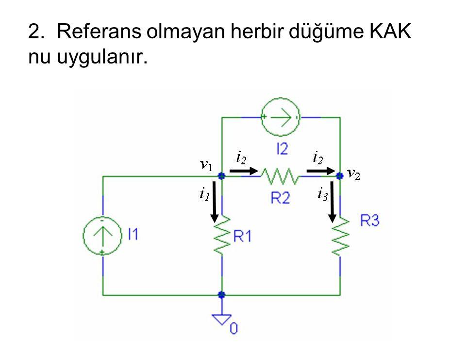 2. Referans olmayan herbir düğüme KAK nu uygulanır.
