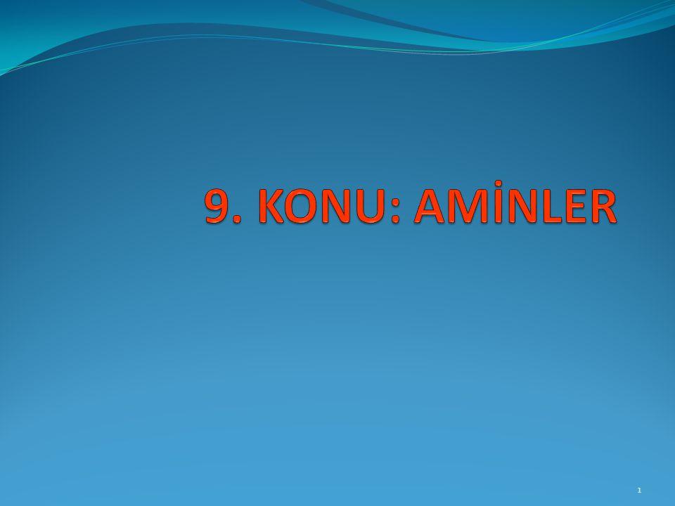 AMİNLERE GİRİŞ Alkillenmiş amonyak yapısındaki maddelerdir.