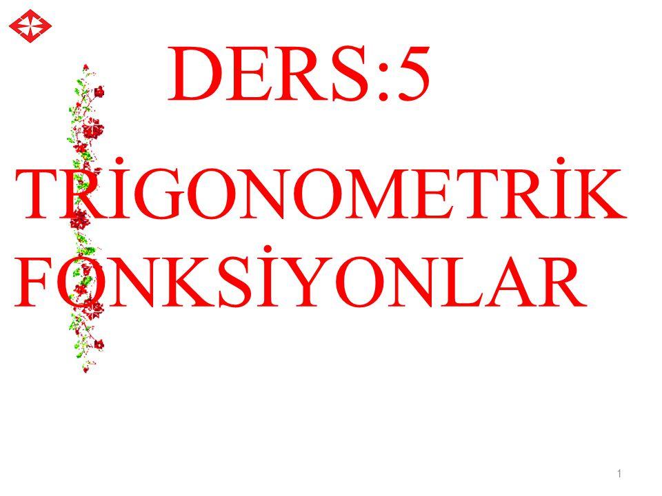 Trigonometrik fonksiyonlar 1 1 2