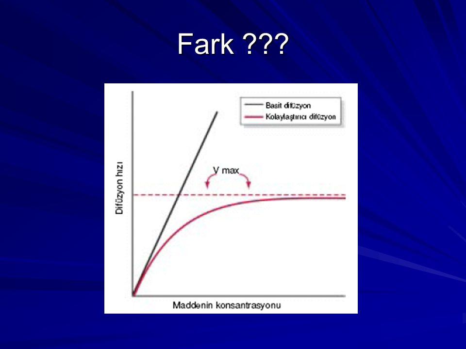 Net difüzyon hızını etkileyen faktörler A- Difüzyon Üzerine Konsantrasyon Farkının Etkisi.