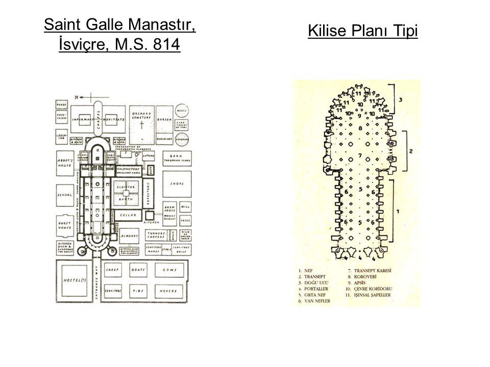 Saint Galle Manastır, İsviçre, M.S. 814 Kilise Planı Tipi