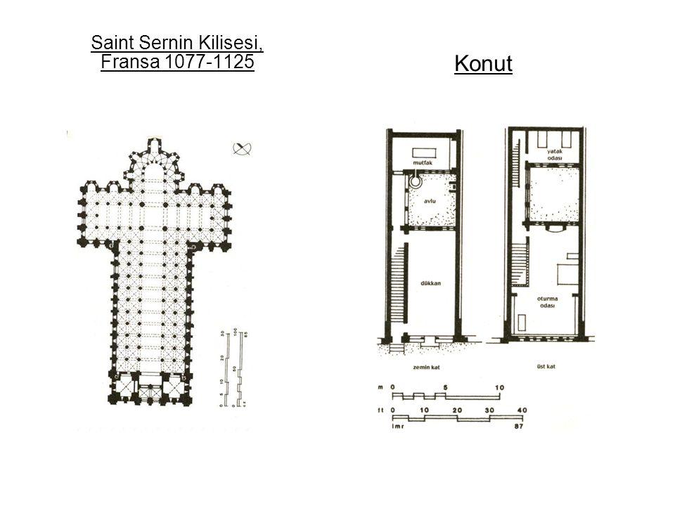 Saint Sernin Kilisesi, Fransa 1077-1125 Konut