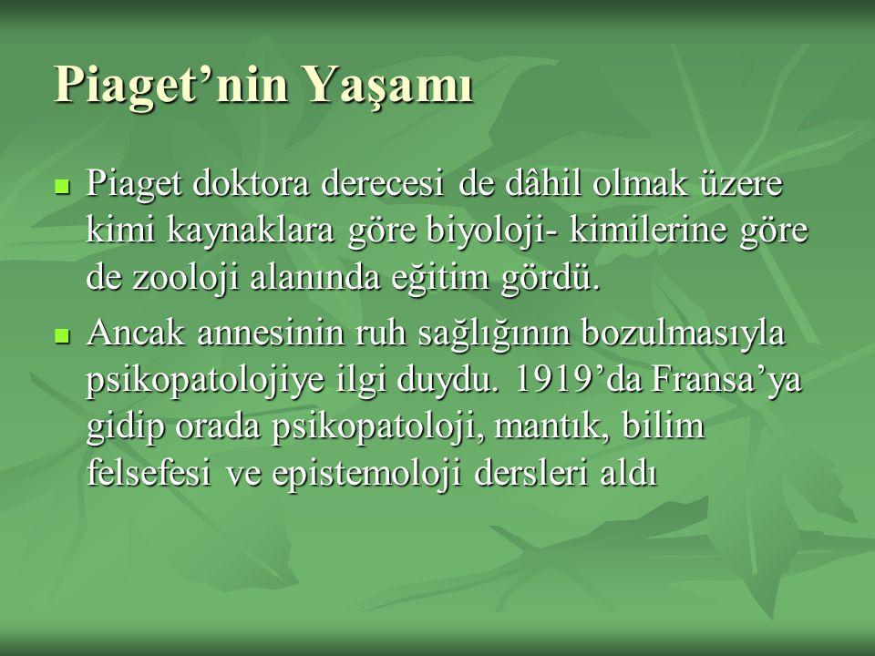 Soyut İşlemsel Dönem (11 Yaş sonrası) Ancak bu yetiyi kazanmış öğrencilere eğer 1924 yılında Mustafa Kemal değil de Turgut Özal ülkenin başında olsaydı, ne gibi tarihsel farklılıklar olurdu? diye sorulduğunda mantığa uygun yanıtlar alınabilir.