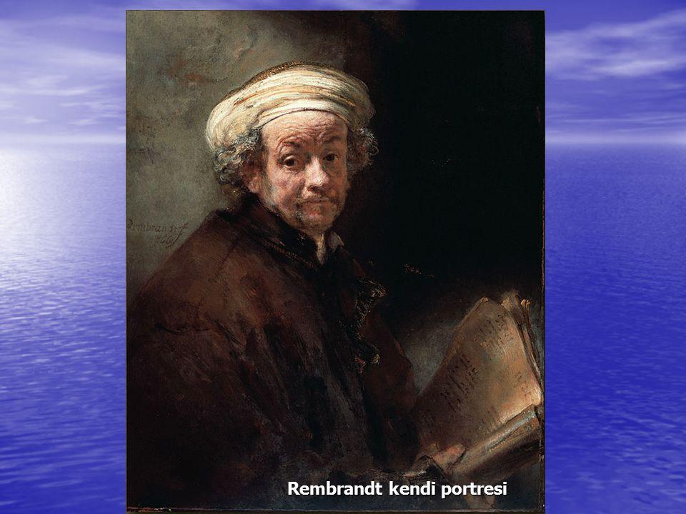 Rembrandt kendi portresi