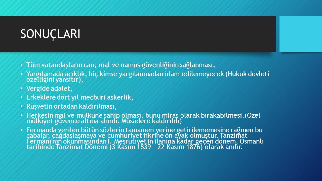 ISLAHAT FERMANLARI Islâhat Fermânı (Islâhat Hatt-ı Hümâyûn-û), Osmanlı İmparatorluğu nun çöküş döneminde devletin yıkılmaktan kurtarılması amacıyla; siyasî kuruluşlar, kişi hakları ve yeni kurumların kurulması konularında yapılması tasarlanan köklü değişiklikler için Sultan Abdülmecid zamanında yayımlanan fermândır.