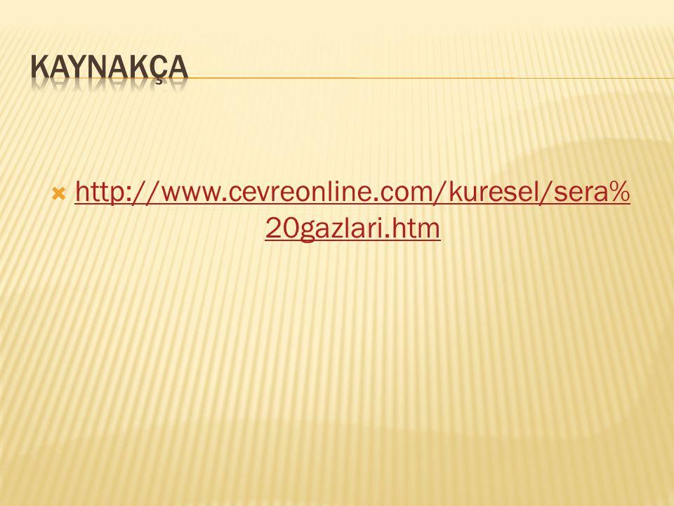  http://www.cevreonline.com/kuresel/sera% 20gazlari.htm http://www.cevreonline.com/kuresel/sera% 20gazlari.htm