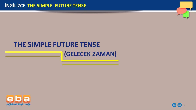 2 İngilizcede geleceğe yönelik olayları ifade etmek için gelecek zaman anlamına gelen The Simple Future Tense kullanılır.
