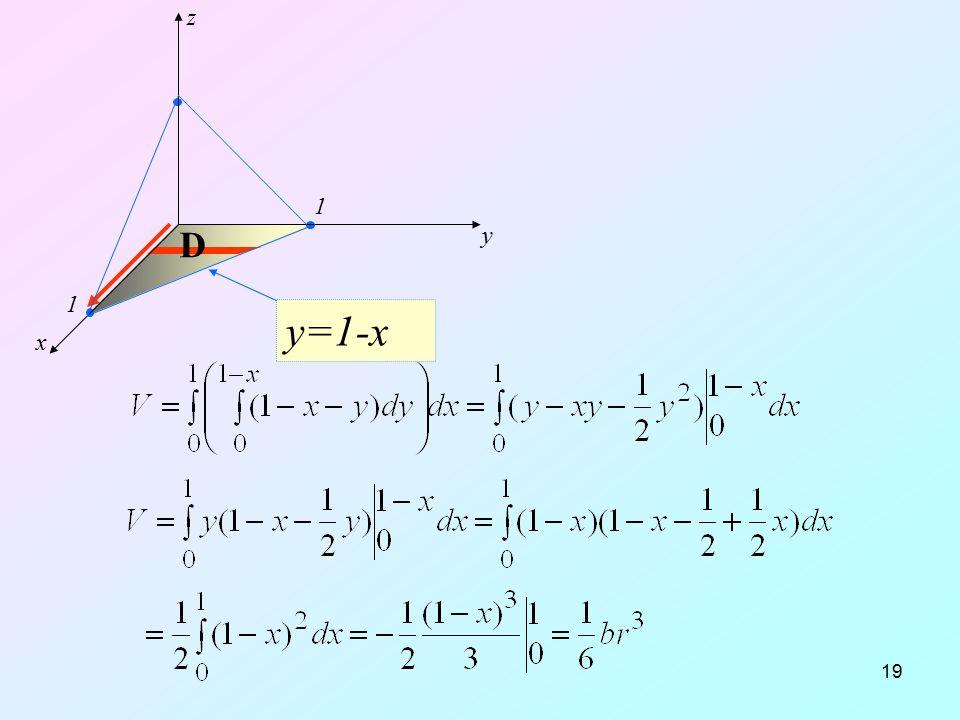19 y=1-x x y z D 1 1