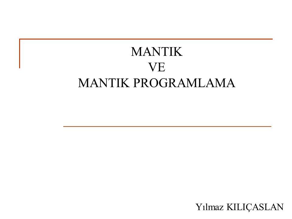 Sunu Planı Bir bilgisayım yöntemi olarak mantıksal çıkarım Prolog programlama dilinin temel yapıları Prolog programlama dilinde çıkarım kuralları