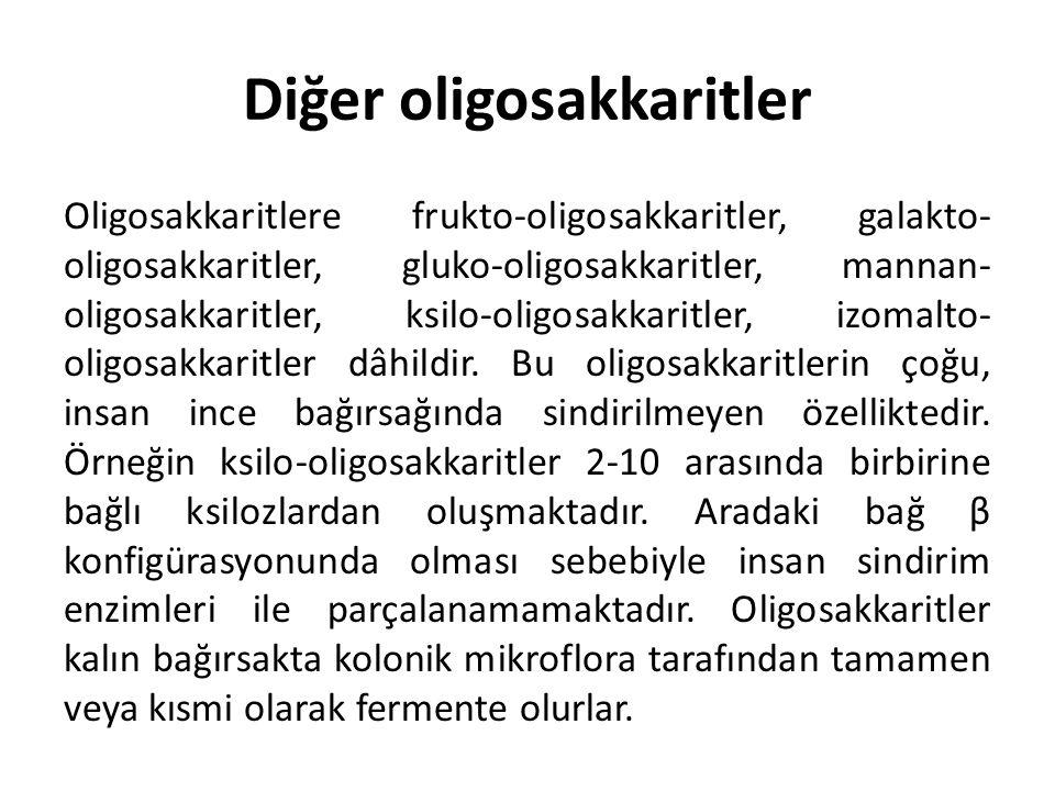 Diğer oligosakkaritler Oligosakkaritlere frukto-oligosakkaritler, galakto- oligosakkaritler, gluko-oligosakkaritler, mannan- oligosakkaritler, ksilo-o