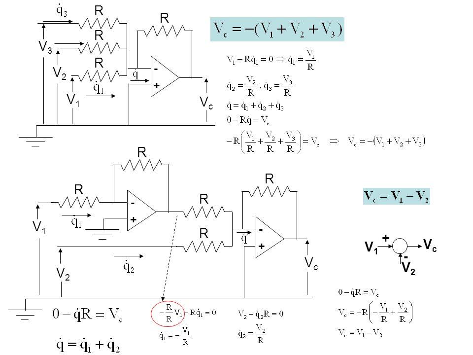 R V2V2 R R V1V1 - + VcVc R R - + + - V1V1 V2V2 VcVc - + V1V1 VcVc R R R V2V2 V3V3 R