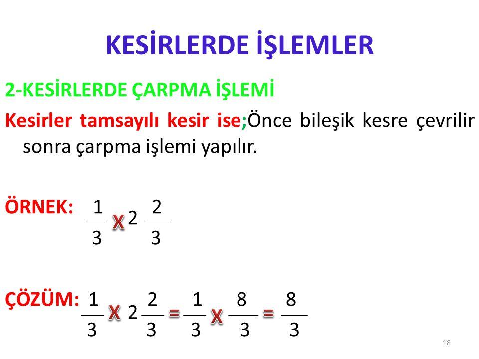 KESİRLERLE İŞLEMLER 19