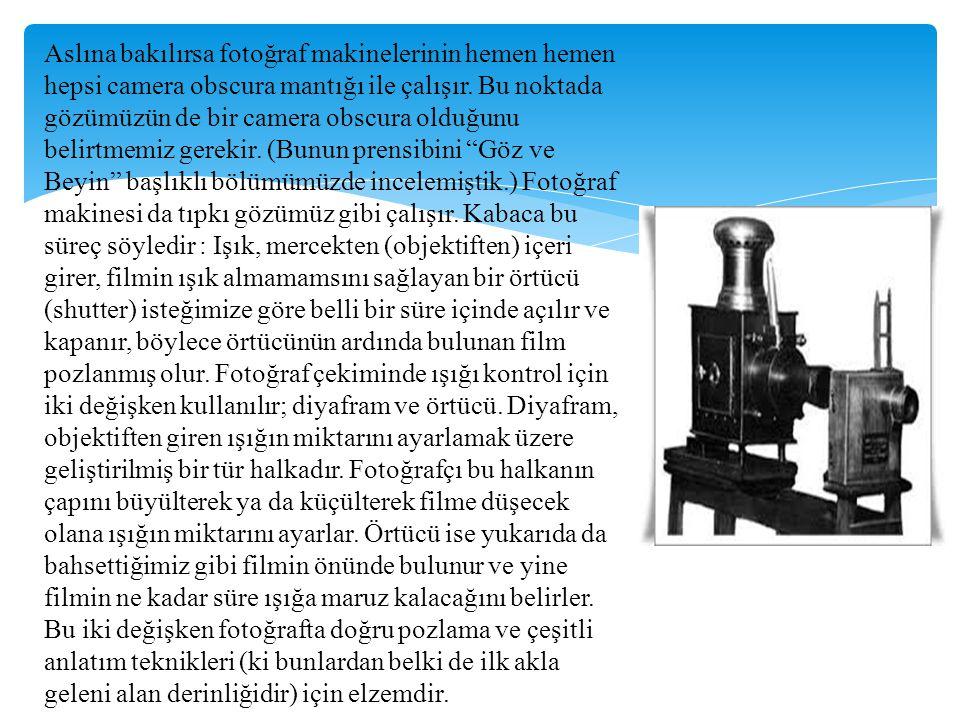 b.) Sualtı makineleri : Sualtında ışığın birçok özelliği kaybolmakta ya da değişmektedir.