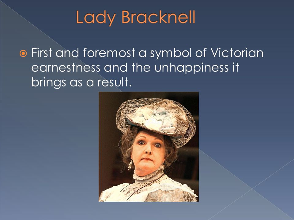  First and foremost a symbol of Victorian earnestness and the unhappiness it brings as a result.