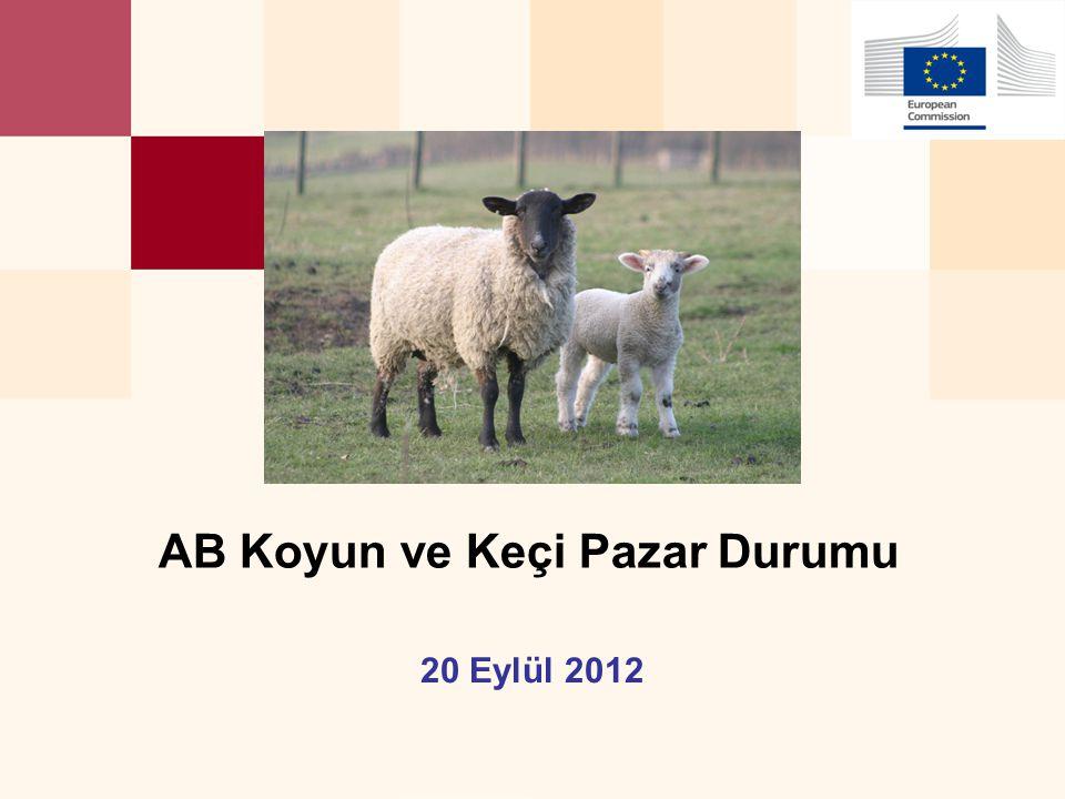 DG AGRI, Man Com 20 September 2012 12 AB Koyun, keçi ve canlı hayvan ithalatları (1): Pazar Rakamları (COMEXT)