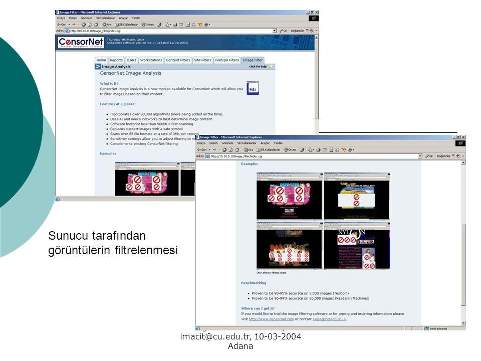 Öğr. Gör. İrfan MACİT, imacit@cu.edu.tr, 10-03-2004 Adana Sunucu tarafından görüntülerin filtrelenmesi