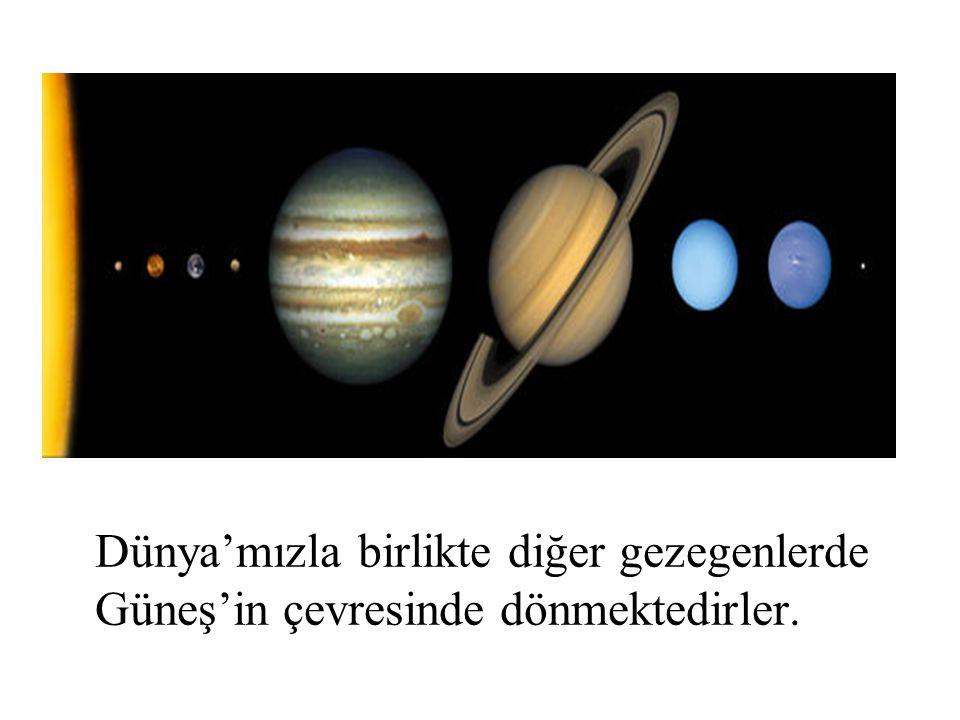 Dünya'mızla birlikte diğer gezegenlerde Güneş'in çevresinde dönmektedirler.