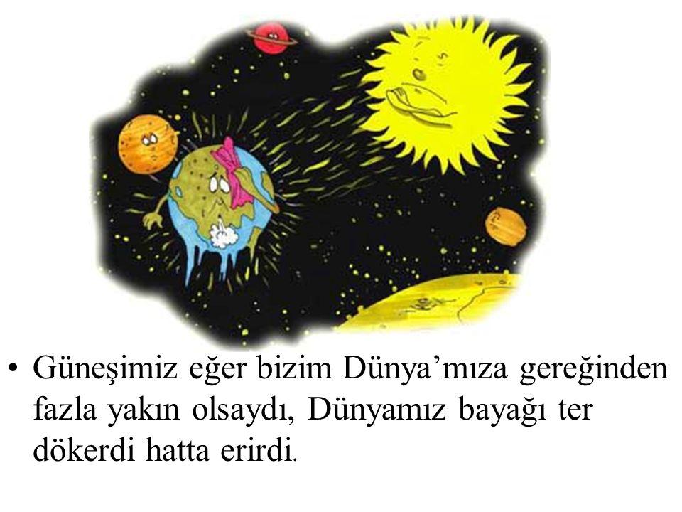 Dünya kendi etrafında dönerken aynı zamanda Güneş'in etrafında da döner.