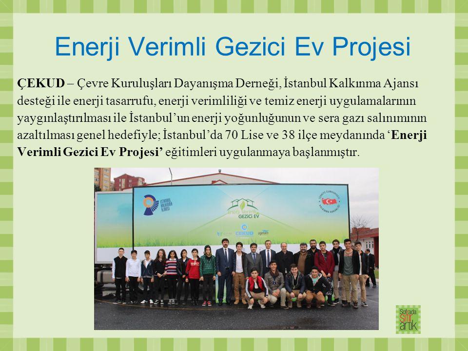 Enerji Verimli Gezici Ev Projesi ÇEKUD – Çevre Kuruluşları Dayanışma Derneği, İstanbul Kalkınma Ajansı desteği ile enerji tasarrufu, enerji verimliliğ