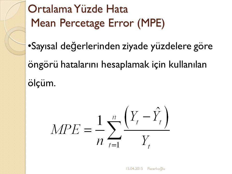 Holt Yöntemi-6 15.04.2015Pazarlıo ğ lu Holt denkleminde üç denklem kullanılır: 1.Üstel düzeltilmiş seri ya da cari düzey tahmini 2.