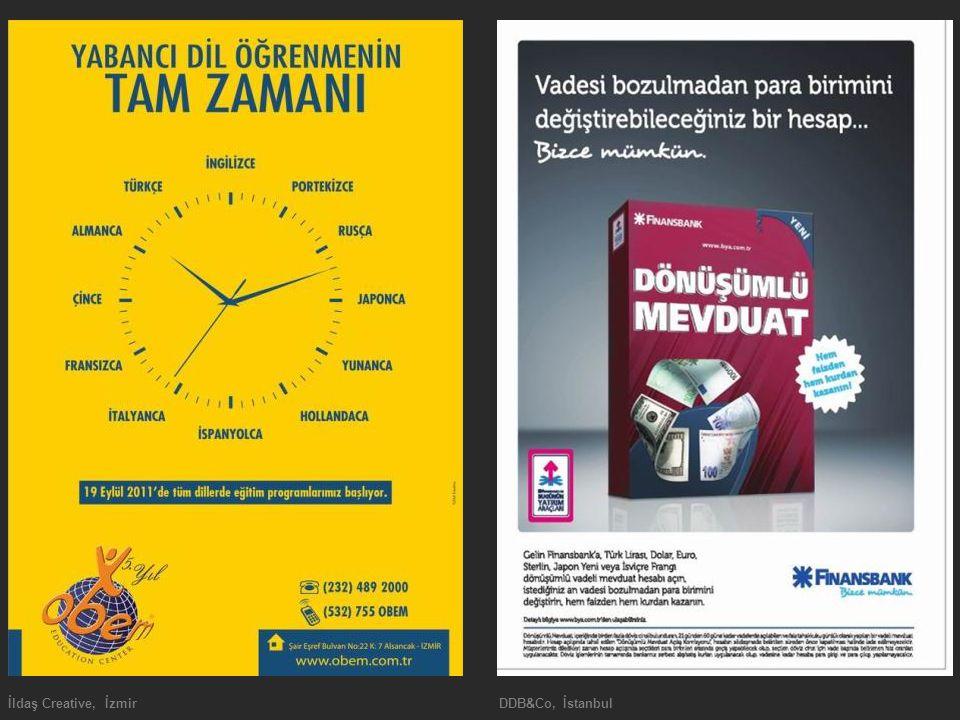 İldaş Creative, İzmir DDB&Co, İstanbul