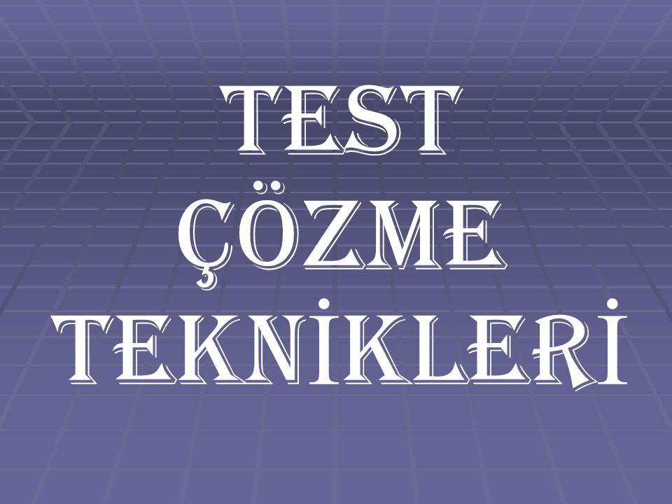  Turlu soru çözme Yöntemi ' testteki her soruyu incelemenize yardımcı olur.