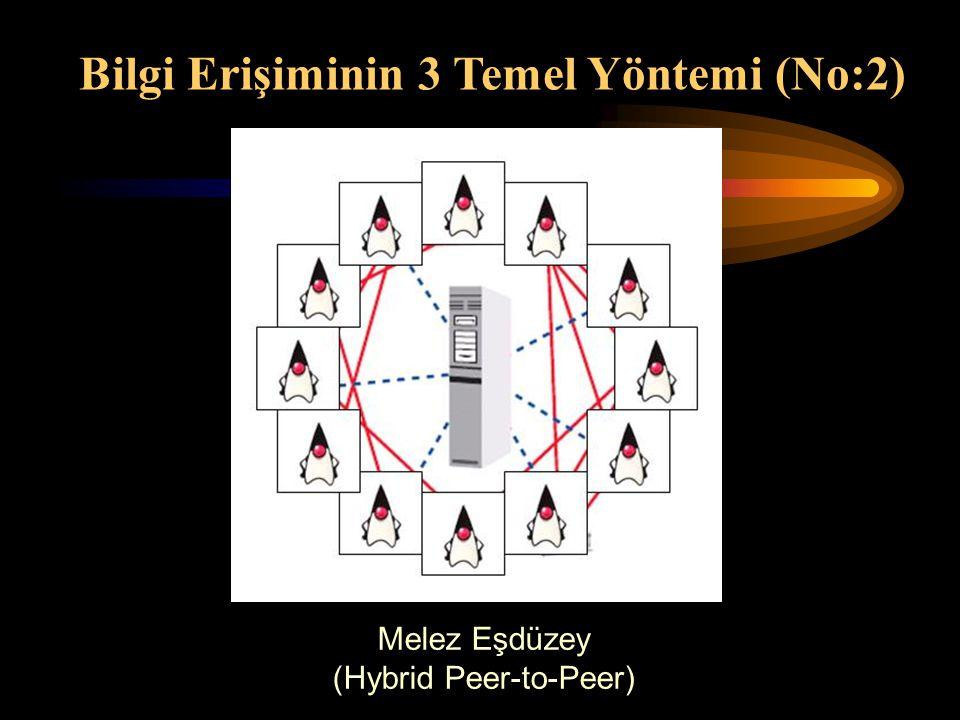 Melez Eşdüzey (Hybrid Peer-to-Peer) Bilgi Erişiminin 3 Temel Yöntemi (No:2)