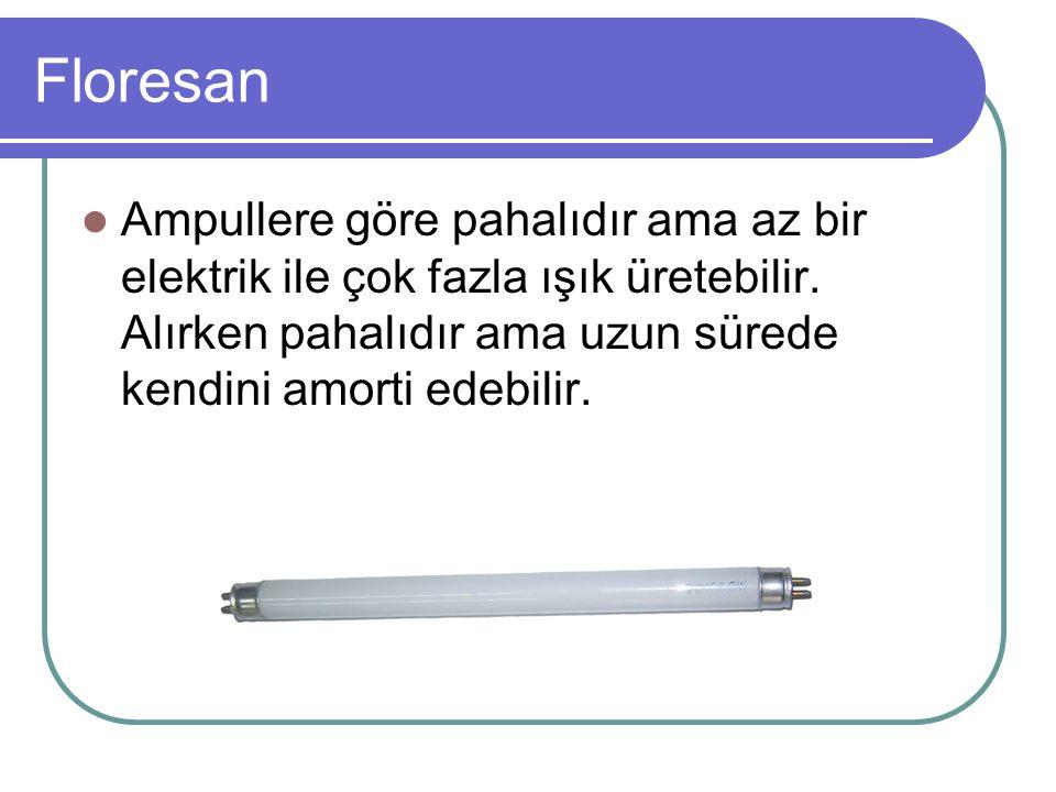 Neden Floresan; Floresanlar her anlamda ampullerden daha az elektrik harcar.