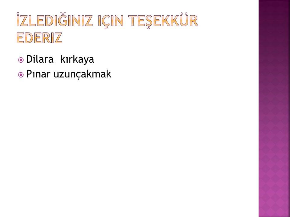  Dilara kırkaya  Pınar uzunçakmak