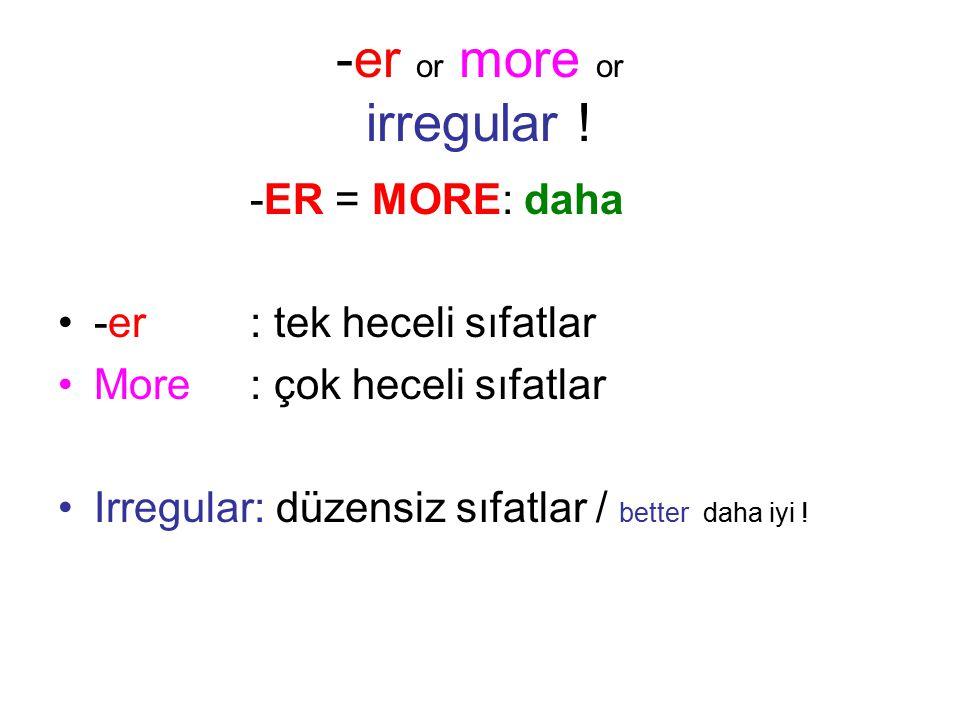 -er or more or irregular .
