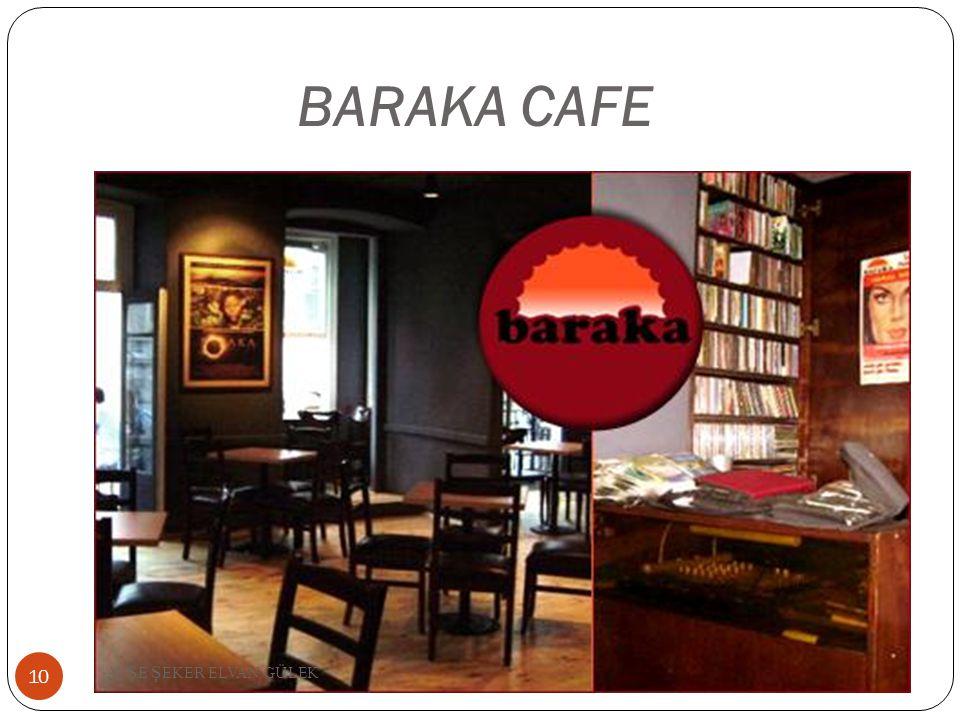 BARAKA CAFE 10 AY Ş E Ş EKER ELVAN GÜLEK