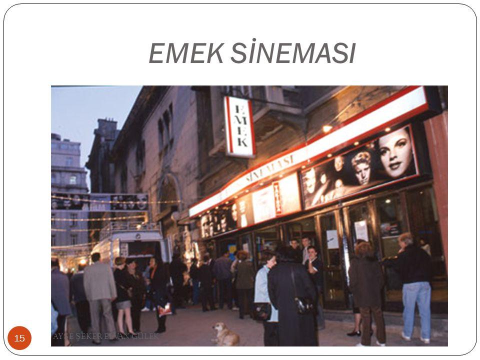 EMEK SİNEMASI 15 AY Ş E Ş EKER ELVAN GÜLEK