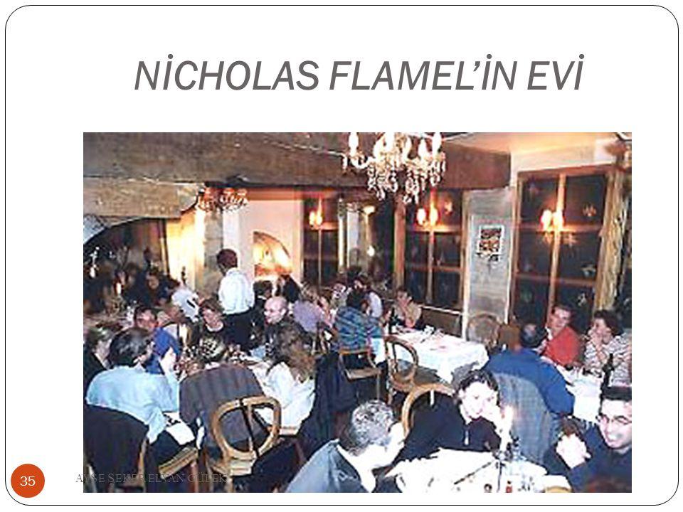 NİCHOLAS FLAMEL'İN EVİ 35 AY Ş E Ş EKER ELVAN GÜLEK