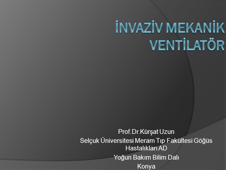 Prof.Dr.Kürşat Uzun Selçuk Üniversitesi Meram Tıp Fakültesi Göğüs Hastalıkları AD Yoğun Bakım Bilim Dalı Konya
