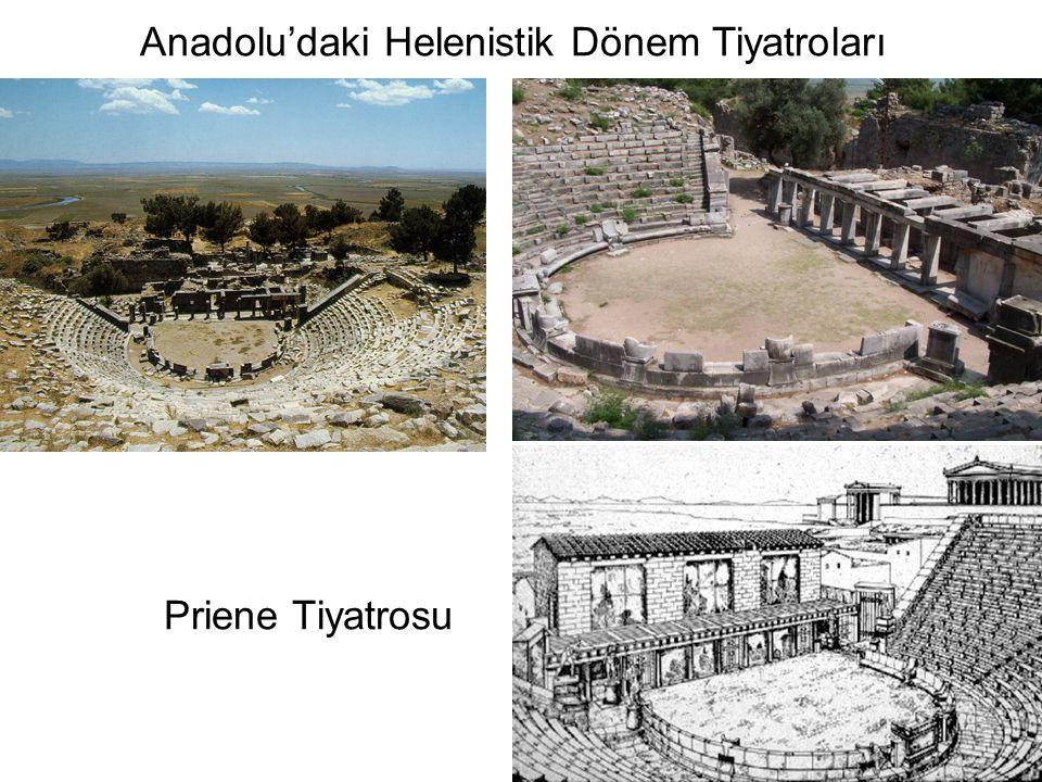 Priene Tiyatrosu Anadolu'daki Helenistik Dönem Tiyatroları