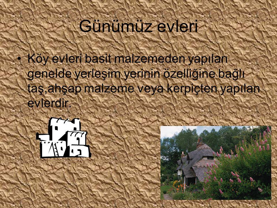 Kagir evler genellikle tek veya birkaç katlı basit evlerdir.