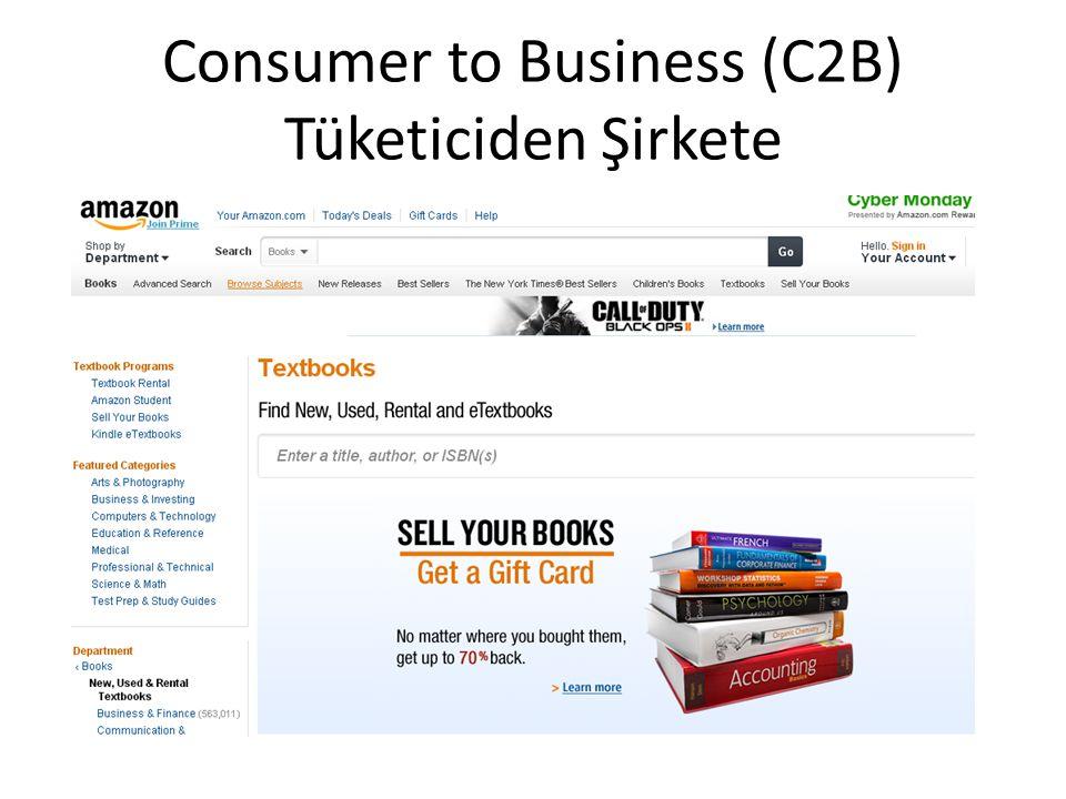 Consumer to Business (C2B) Tüketiciden Şirkete
