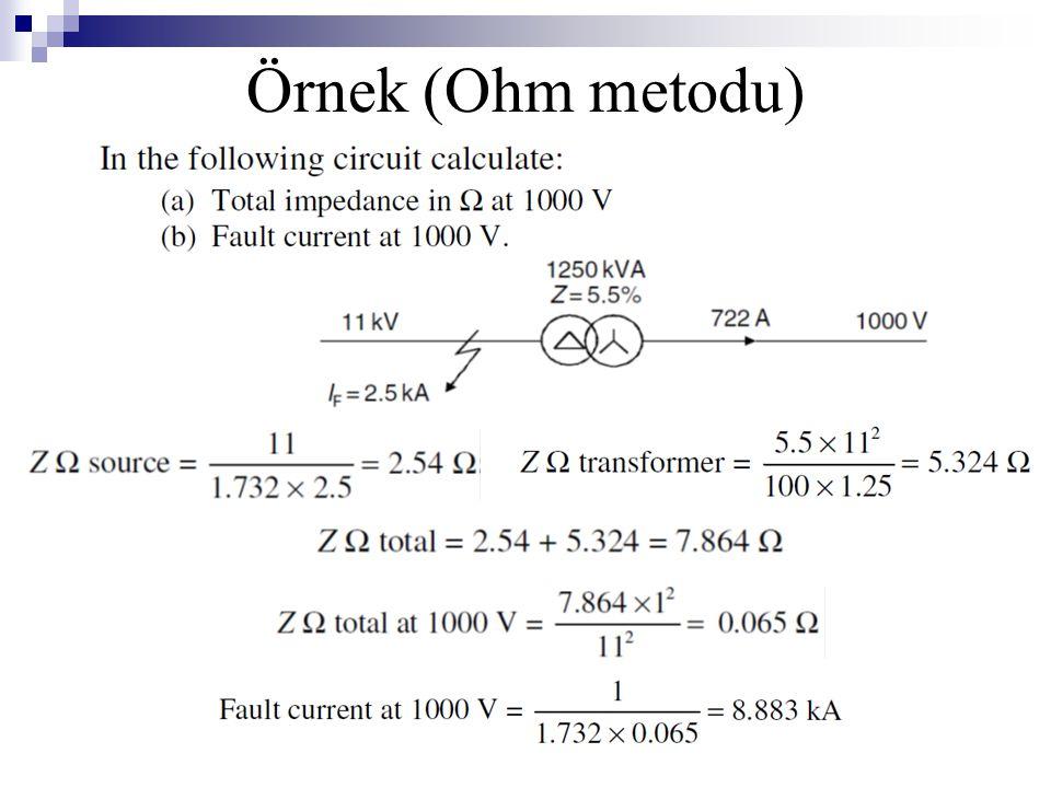 Örnek (Ohm metodu)
