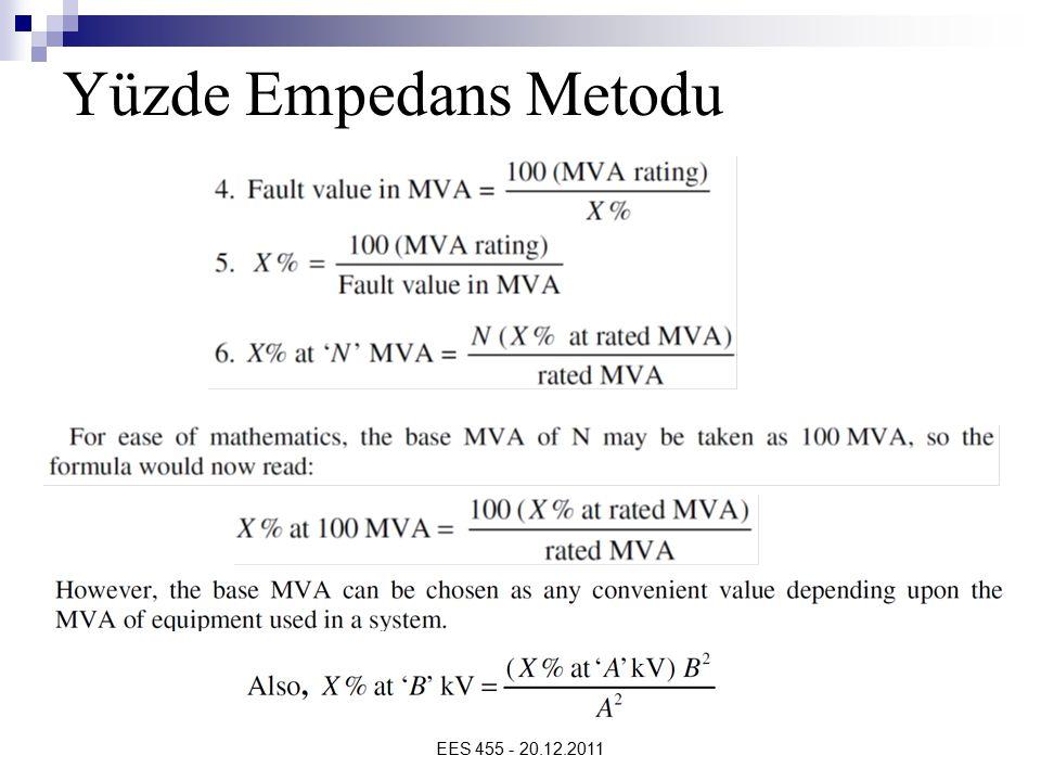 EES 455 - 20.12.2011 Yüzde Empedans Metodu