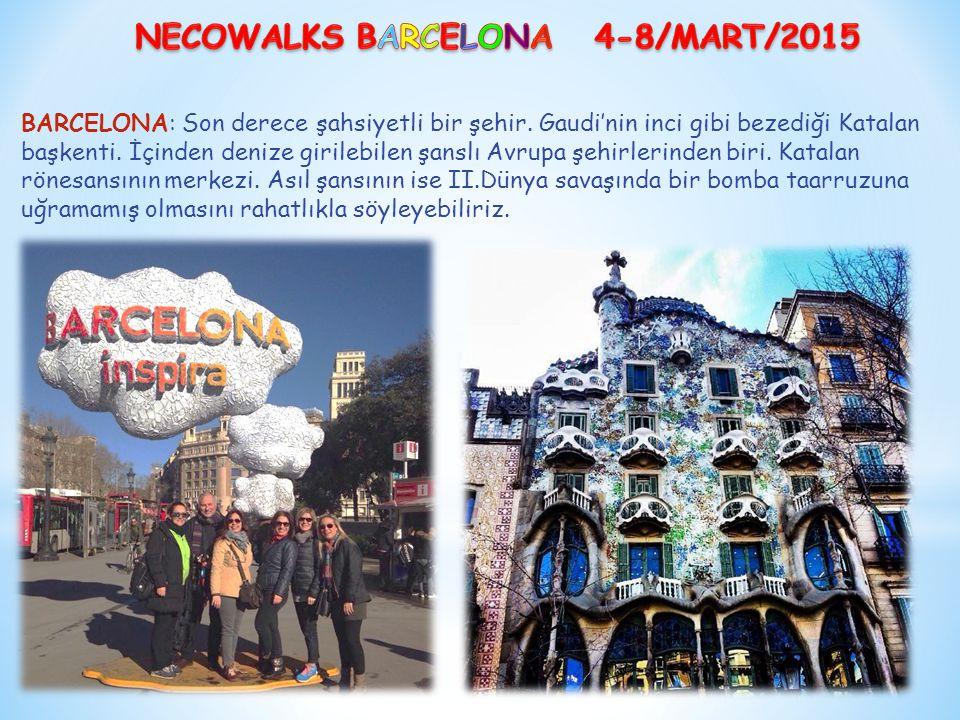 BARCELONA: Son derece şahsiyetli bir şehir. Gaudi'nin inci gibi bezediği Katalan başkenti.