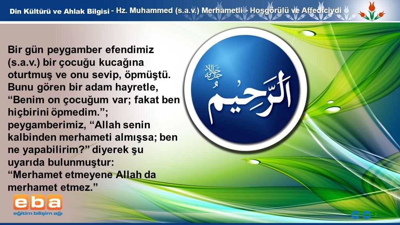 3 - Hz.Muhammed (s.a.v.) Merhametli - Hoşgörülü ve Affediciydi And olsun.