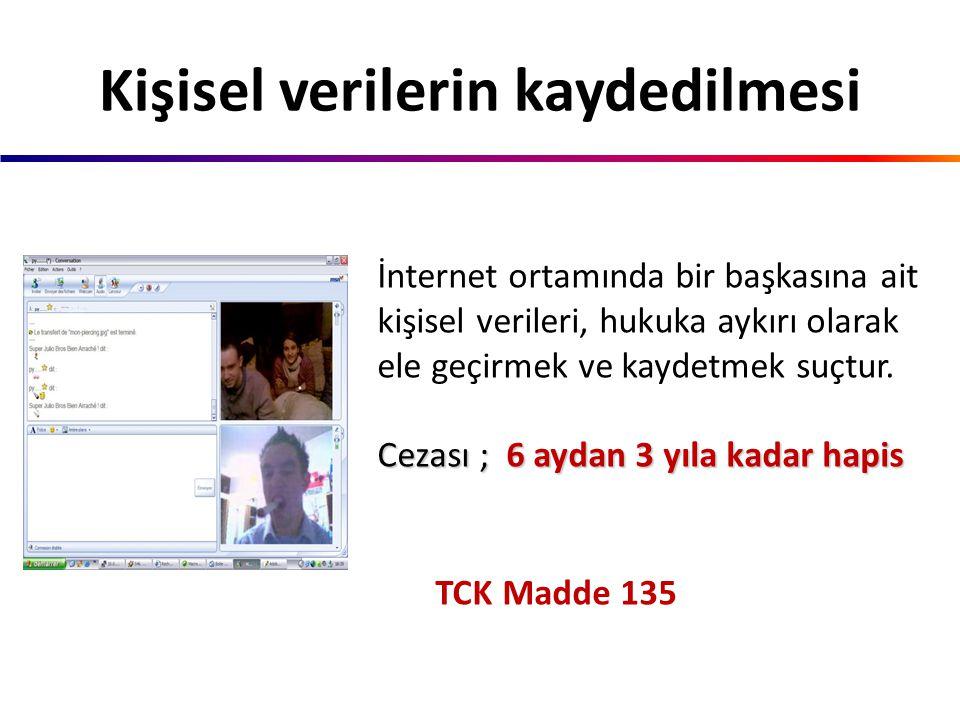 TCK Madde 134 Teknolojik imkanları kullanarak kişilerin özel hayatlarını görüntülü veya sesli olarak kaydederek internet ortamında yayınlamak suçtur.