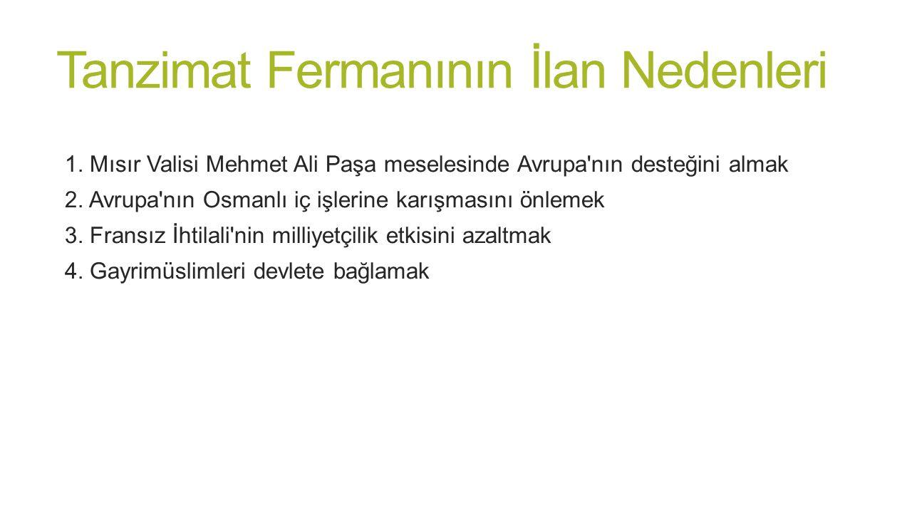 Tanzimat Fermanı'nın Sonuçları - Padişah kendi isteğiyle yetkilerini kısıtlamıştır.